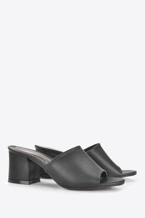 Vizon Ayakkabı Kadın Siyah Terlik Vzn20-087 4