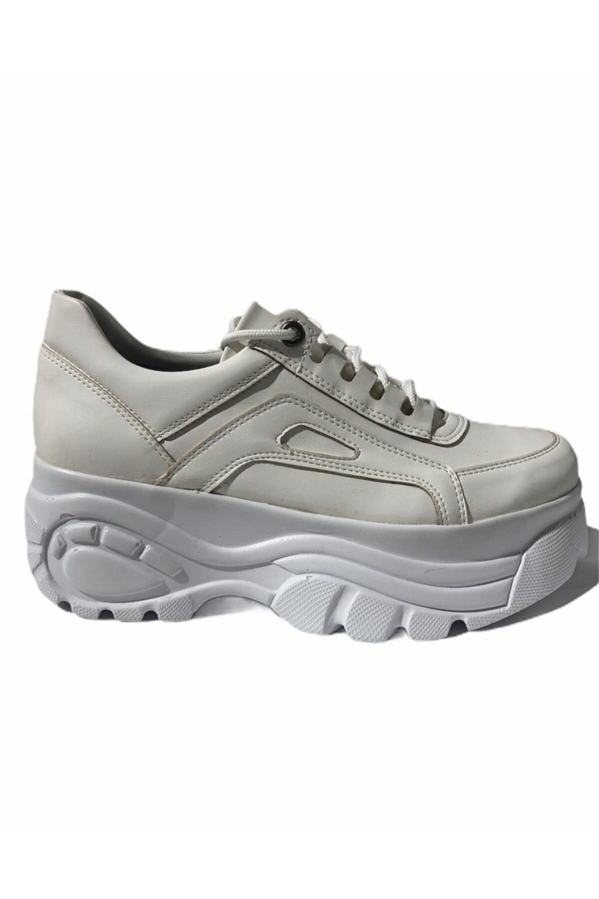 Baggy Walk Kadın Beyaz Brune Sneaker