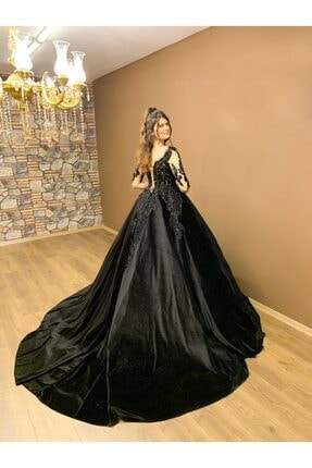 Womentic Bridal Siyah Nişanlık Abiye 2