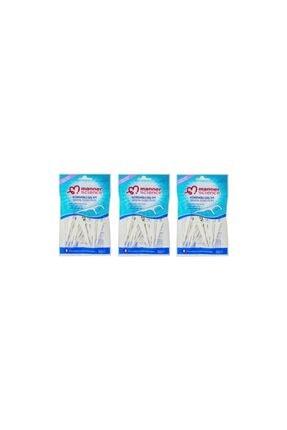 Kürdanlı Diş Ipi 3'lü Set Science 50*3 Kürdanlı Diş İpi