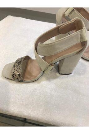 Annie Hall Kadın Krem Çapraz Topuklu Ayakkabı 1