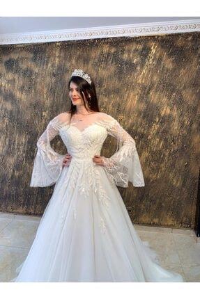 Womentic Bridal Kol Işlemeli Gelinlik 1