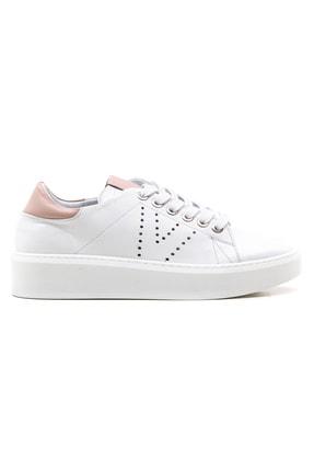 GRADA Kadın Beyaz Bağcıklı Hakiki Deri Spor Günlük Ayakkabı 1