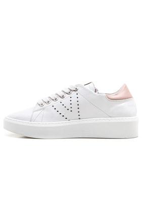 GRADA Kadın Beyaz Bağcıklı Hakiki Deri Spor Günlük Ayakkabı 2