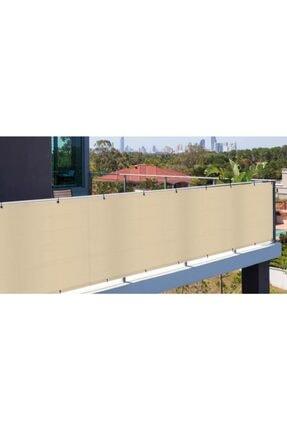 Asenya Balkon Bezi Balkon Brandası 0,50x8 m Krem Gölgelik File Balkon Demiri Örtüsü Balkon Korkuluğu Örtüsü 3