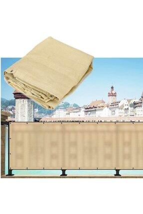 Asenya Balkon Bezi Balkon Brandası 0,50x8 m Krem Gölgelik File Balkon Demiri Örtüsü Balkon Korkuluğu Örtüsü 4