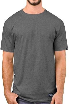 Sivugin Koyu Gri Pamuklu Yuvarlak Yaka Kısa Kol Erkek Spor T-shirt 0