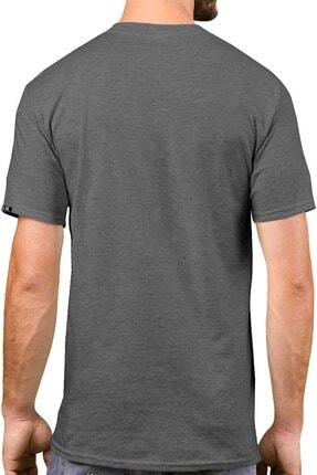 Sivugin Koyu Gri Pamuklu Yuvarlak Yaka Kısa Kol Erkek Spor T-shirt 1