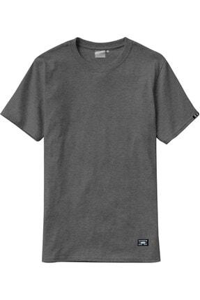Sivugin Koyu Gri Pamuklu Yuvarlak Yaka Kısa Kol Erkek Spor T-shirt 2