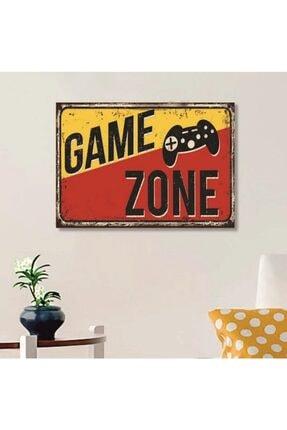 FERMAN HEDİYELİK Game Zone Ahşap Retro Poster 17,5x27,5 Cm 0