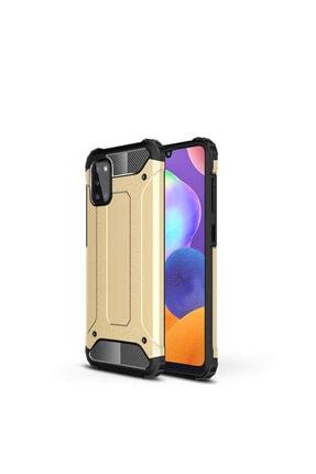 Samsung Galaxy A31 Zırh Kılıf Gold 0