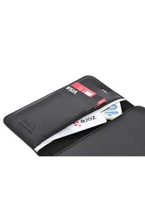 Mobilteam Oppo A5 2020 Kılıf Kapaklı Pocketdelux - Siyah 2