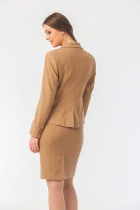 Naramaxx Kadın Kahverengi Tek Düğmeli Blazer Ceket 2