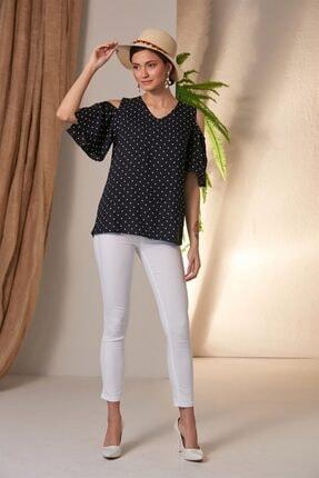 Rmg Puantiyeli Lacivert Bluz 3