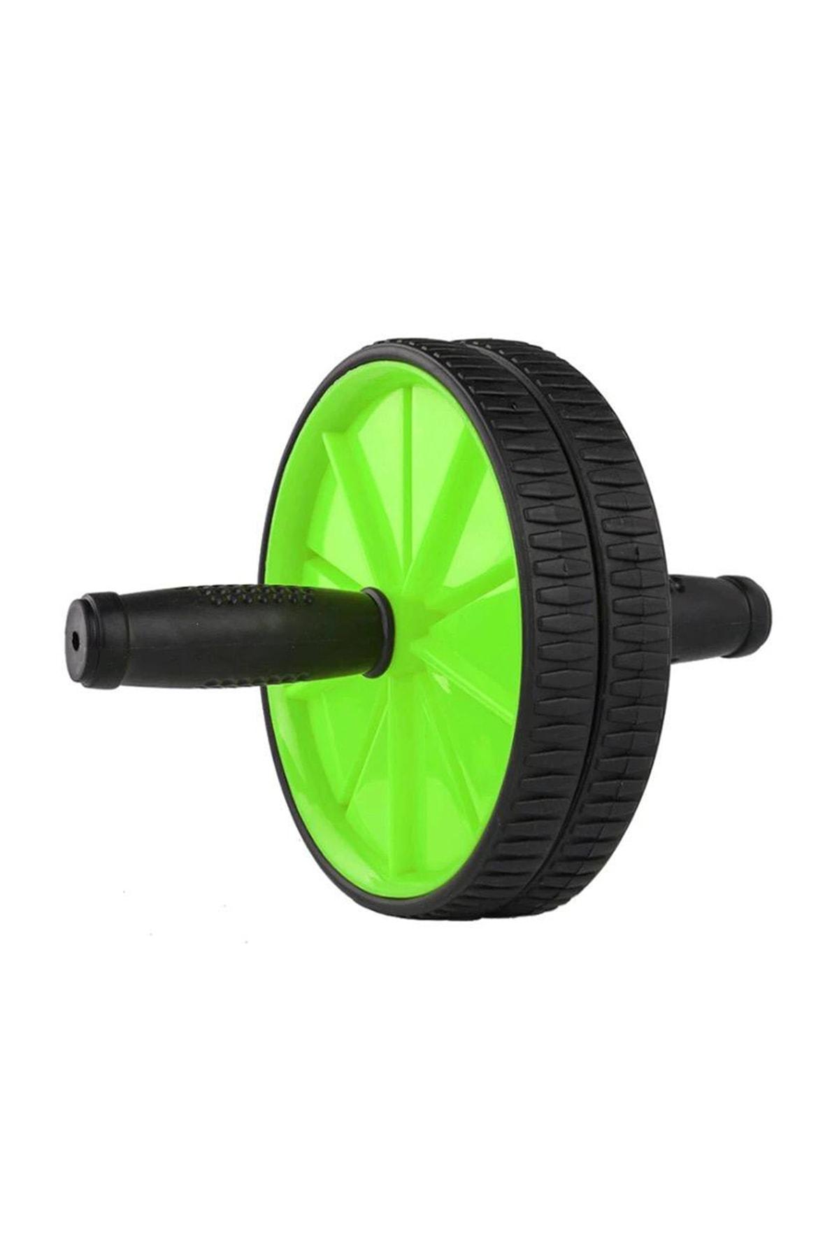 Leyaton Fitness Karın Kası Sixpack Egzersiz Tekeri Spor Aleti Yeşil 0