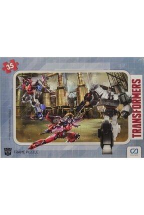 CA Games Transformers - Frame Puzzle 2 - Yeşil (35 Parça) 0