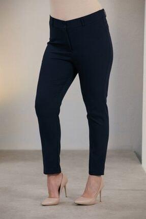 Rmg Kadın Lacivert Büyük Beden Kumaş Pantolon 1