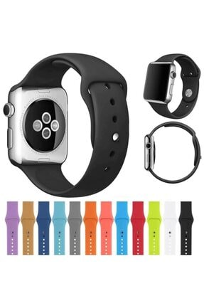 Ekoodukkan Apple Watch 2 3 4 5 - 42 - 44 Mm Silikon Kordon Kayış 1