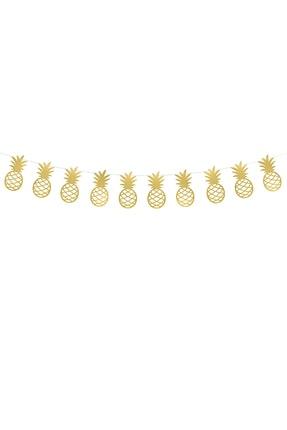 KullanAt Market Altın Ananas Kağıt Afiş 1,5 m 1 Adet 0