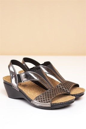 Pierre Cardin PC-1392 Füme Kadın Sandalet 0