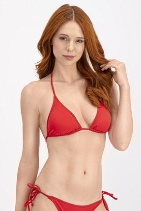 Arnetta Kırmızı Ipli Üçgen Bikini Üstü 0