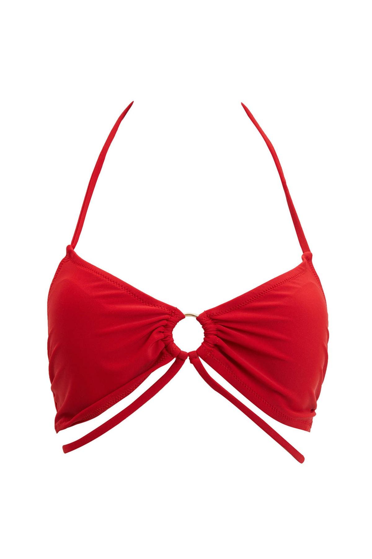 Kadın Kırmızı Boyundan Bağlamalı Bikini Üstü M9818AZ.20SM.RD1