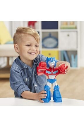 Playskool Super Hero Adventures Mega Mighties Transformers Rescue Bots Academy Optimus Prime 3