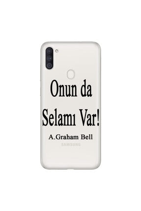 cupcase Samsung Galaxy M11 Esnek Silikon Telefon Kabı Kapak - Graham Bell 0