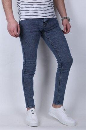 Giygit Dar Paça Likralı Mavi Kot Pantolon 1