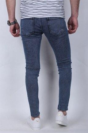 Giygit Dar Paça Likralı Mavi Kot Pantolon 3