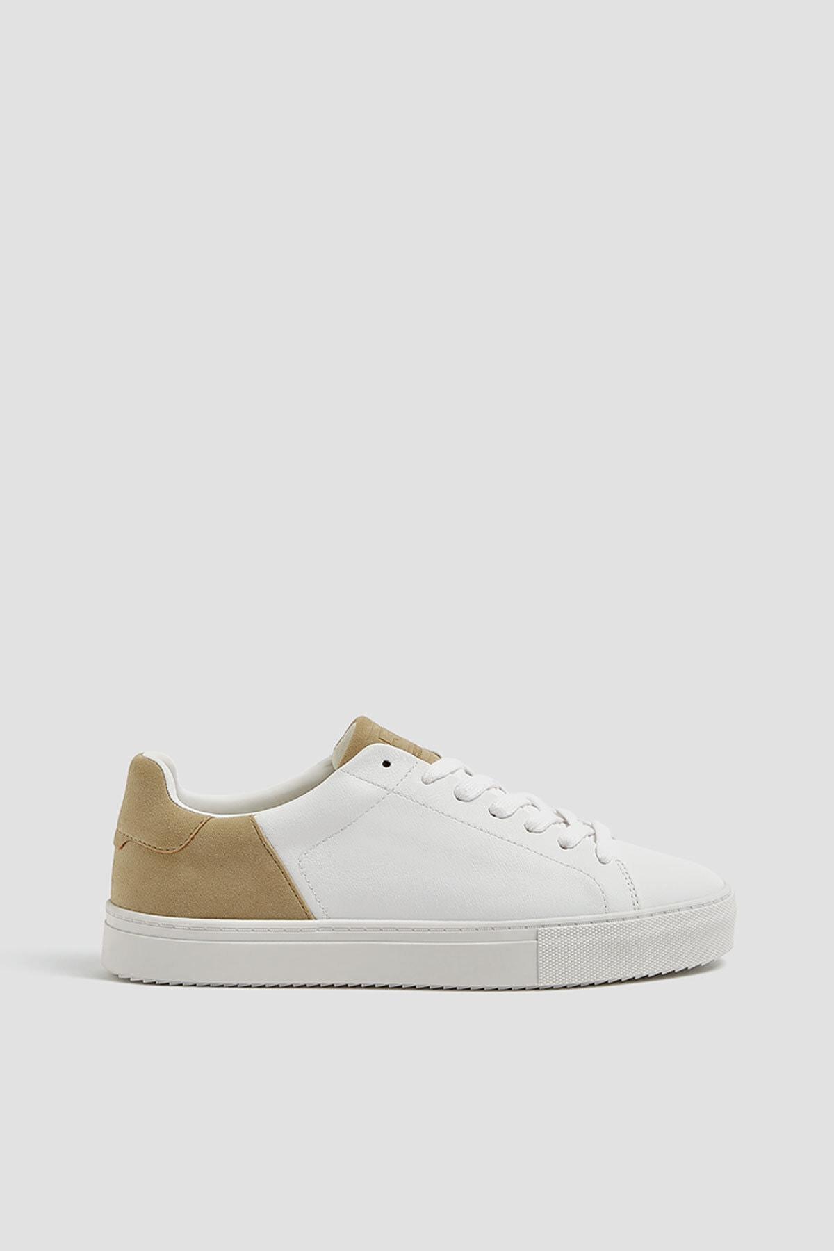 Pull & Bear Erkek Beyaz Kontrast Spor Ayakkabı 12229540 0