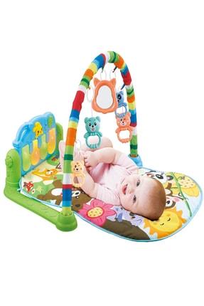 huanger Piyanolu Bebek Oyun Halısı Eğitici Oyuncak Mavi Ekonomik Model 0