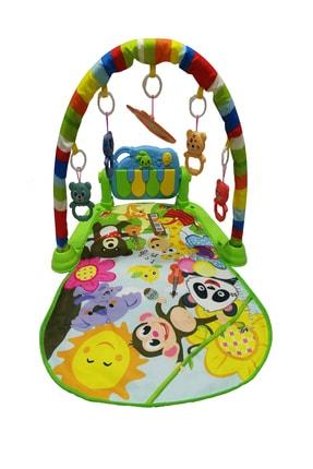 huanger Piyanolu Bebek Oyun Halısı Eğitici Oyuncak Mavi Ekonomik Model 2