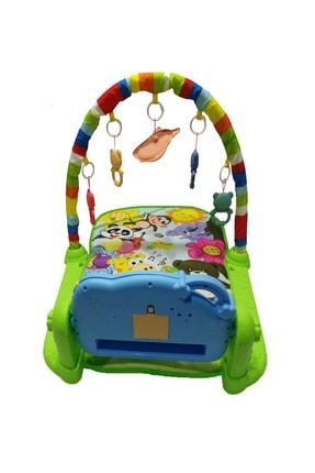 huanger Piyanolu Bebek Oyun Halısı Eğitici Oyuncak Mavi Ekonomik Model 4