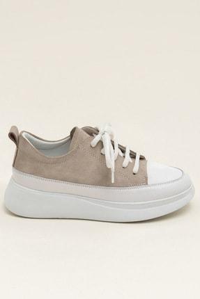 Elle FANCY Bej Süet/Beyaz Kadın  Sneaker 20YSE192404 2