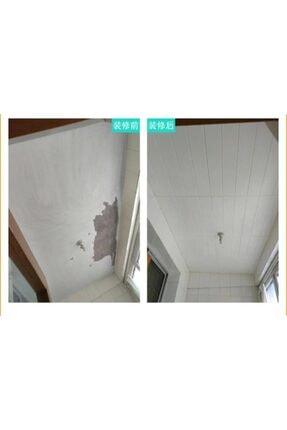 Renkli Duvarlar Kendinden Yapışkanlı Beyaz Ahşap Desen Esnek Sünger Duvar Paneli 1
