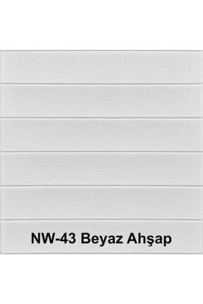 Renkli Duvarlar Kendinden Yapışkanlı Beyaz Ahşap Desen Esnek Sünger Duvar Paneli 4