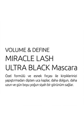 Golden Rose Hacim ve Uzunluk Veren Ekstra Siyah Maskara - Volume & Define Miracle Lash Ultra Black 4