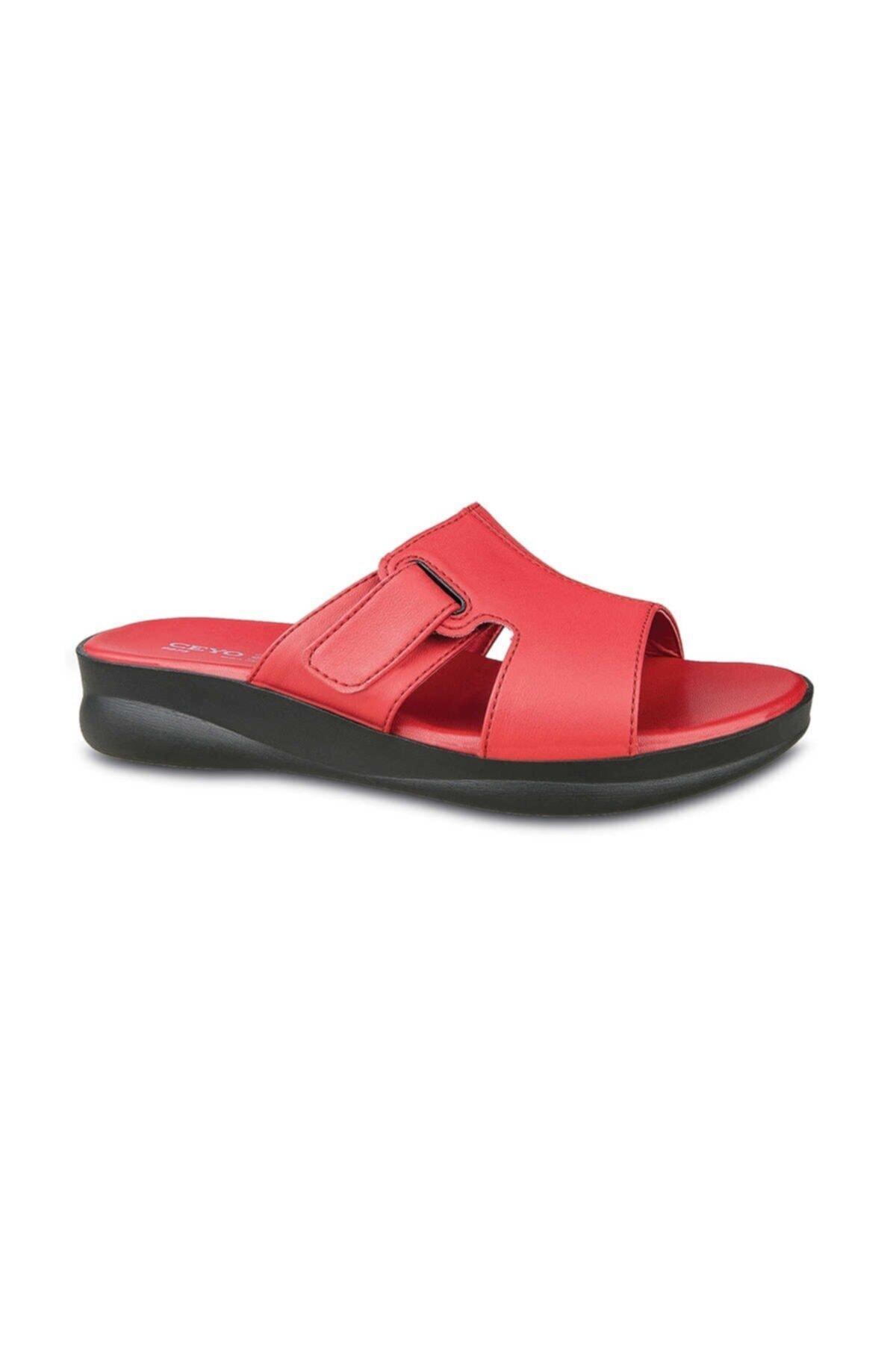 Ceyo Kadın Kırmızı Terlik 9975-2