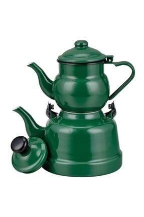 Ebru Emaye Çaydanlık Yeşil 0