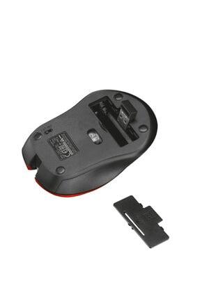 Trust 21870 Mydo Sessiz Kablosuz Mouse 1800dpi Sağ Ve Sol El Uyumlu Kırmızı 3
