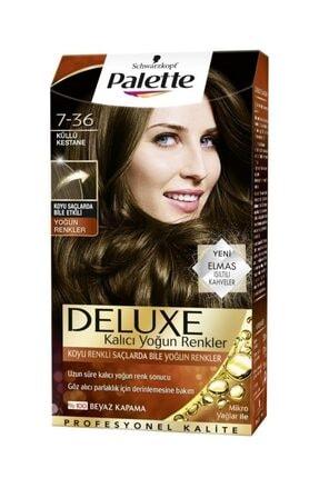 Palette Deluxe Yoğun Küllü Kestane (7.36) Saç Boyası 1