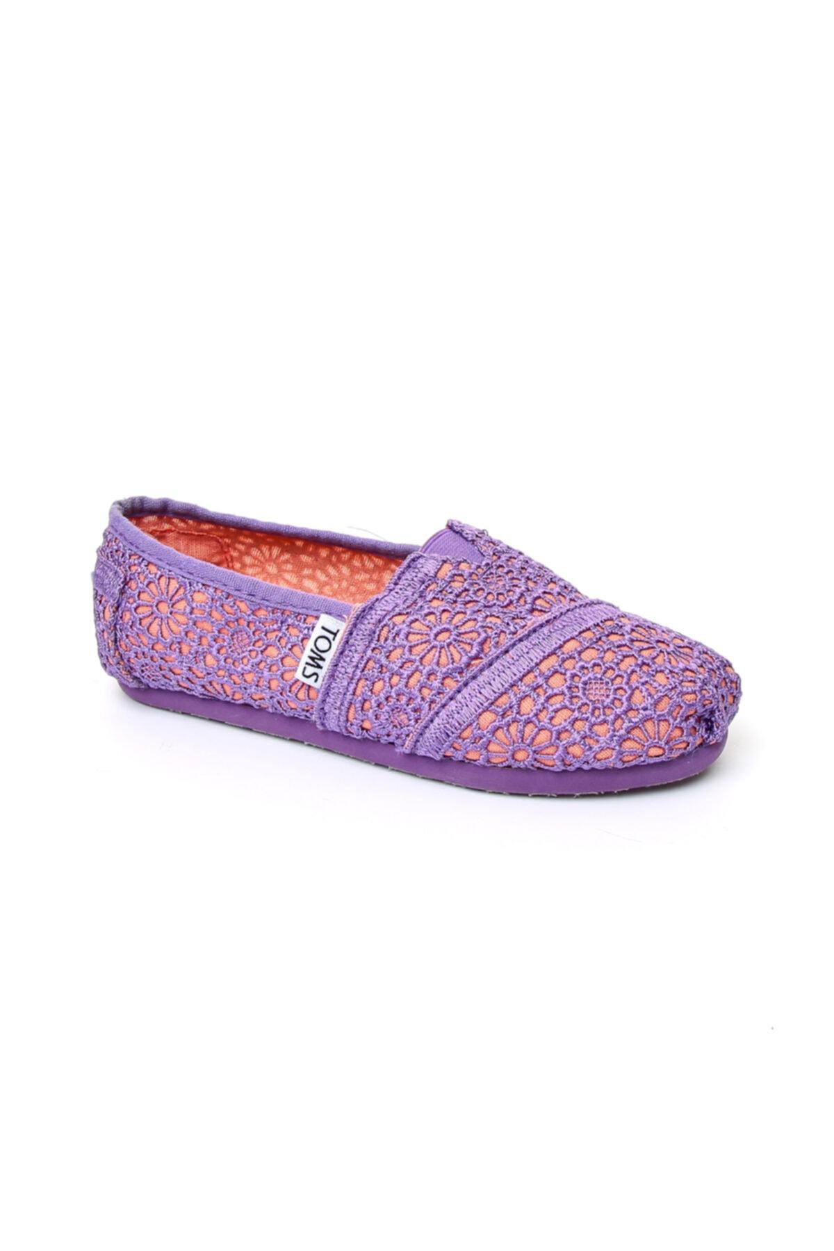 Pembe Kız Çocuk Slip On / Bağcıksız 10001926 Purple-Orange Corchet / Porang