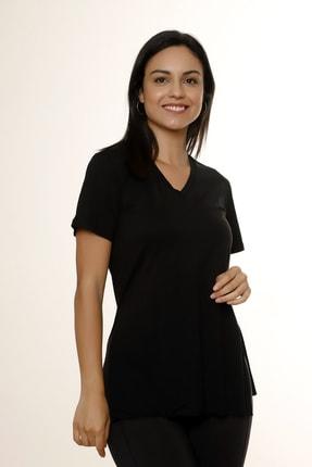 MARIQUITA Kadın Siyah Mari Yırtmaçlı T-shirt 3