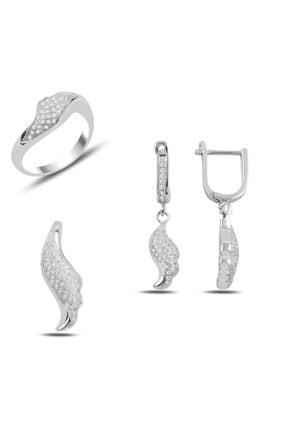 Zuk Collection Gümüş Zirkon Taşlı Set 0