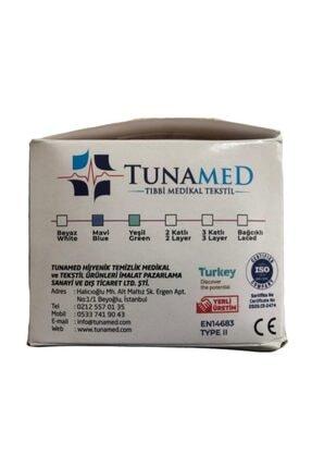 Sampurchase Tuna Med Lastikli Cerrahi Maske Tek Kullanımlık Telli 50 Adet 2'li 2
