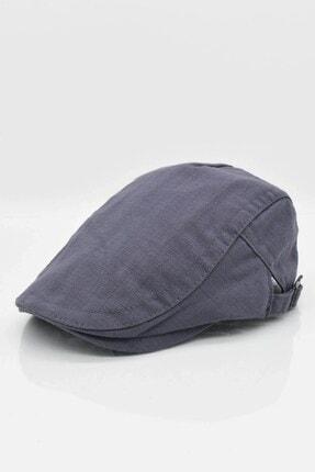 Külah Erkek Şapka Yazlık Keten Spor Kasket - Gri 1