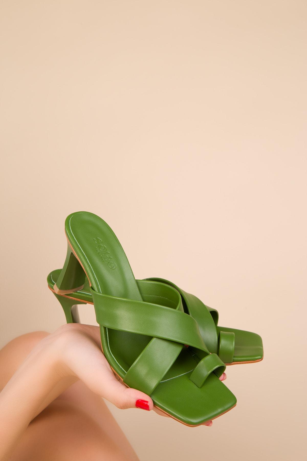 Yeşil Kadın Terlik 15113