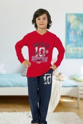 Hmd 5427 Superior Erkek Çocuk Pamuklu Uzun Kol Pijama Takımı 0
