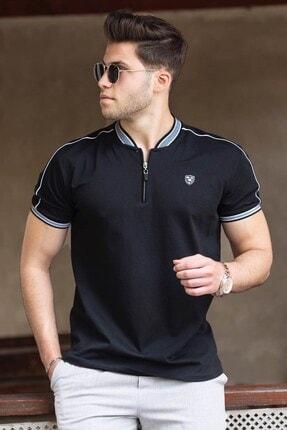 Madmext Erkek Siyah Polo Yaka Tişört 9281 0